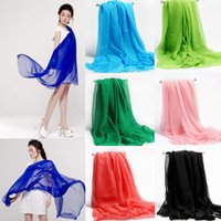 The new spring and summer Womens Plain Shawls scarves matchi...