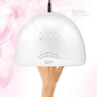 Atacado New SunONE ajustável 24 / prego 48W lâmpada UV Gel Secador de White Light UV Lâmpada LED prego Secador de cura Máquina polonês frete grátis