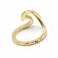 Wholesale- Hammered rings Single metal trendy Wave Ring phalanges rings SPL for Derek