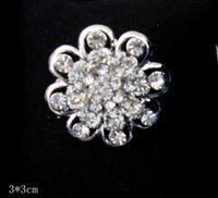 Spilla a forma di girasole in cristallo con strass trasparente in rodio placcato argento