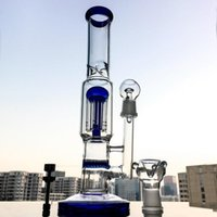 8 Armbaum Percolator Glas Bong Gerade Röhre Bongs Panca Water Rohr Öl DAB Rigs Grün Blau Klar mit Titan Nagel 1003