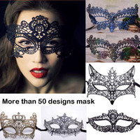 Halloween lace mask Sexy Masquerade Masks Black White Lace M...
