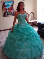 2017 New In Stock Sexy Mint Blue and Pink Quinceanera Dresse...