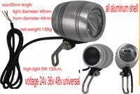 12-80V Universal Frontlight 24V36V48V LED-Lampe mit Horn-Aluminium-Hülle für elektrische Roller-Klappfahrrad Ebike ATV mit Schalter