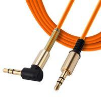 3,5-mm-Stecker auf Stecker rechtwinklig Hilfs Auto Stereo-Audio-AUX-Kabel Metall für Handys Auto iphone Kopfhörer