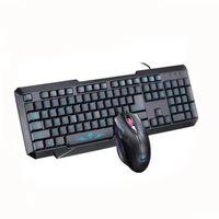 Combinaisons de clavier et de souris Noir Clavier USB filaire et souris Kit pour PC de bureau 1600DPI Jeu de clavier et souris USB pour ordinateur de bureau ou maison HZ