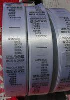 1000 stücke pro rolle kleidung waschen label instruction tag lager oder angepasstes Freies verschiffen