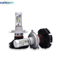 Cooleeon HL-X3 LED المصباح سيارة H4 / H7 / H11 / H7 / 9005/9006 6000LM IP67 للماء CSP LED رئيس مصباح لمبة 50W 3000K 6500K 8000K