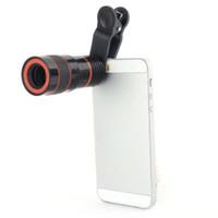 Объектив телескопа 8-кратным зумом телефото лен Unniversal оптической камеры с зажимом для iPhone Samsung HTC Сони и LG Mobile смарт сотовый телефон