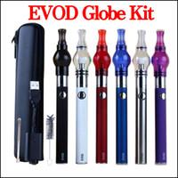 EVOD kit caneta cera vaporizador de vidro Globo atomizador erva seca vapes kit de cera de cigarro eletrônico kits de bateria de arranque dab kits de caneta