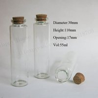 20 x 55ml empty glass bottle with cork , 50cc cork stoppers b...