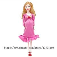 Rosa reales trajes de muñecas embarazadas mamá muñeca tiene un bebé en Su Panza Baby Alive Muñeca renacida temprana de juguetes educativos Familia