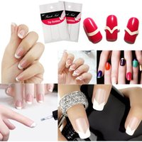 New Random 5 Packs 3 Style French Manicure Form Manicure adesive per unghie Nail Art Stickers Guida Decal