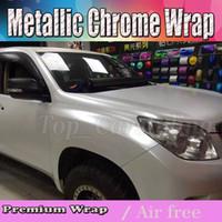 2017 Satin weiß perle chrom Vinyl Auto Wrap Film mit luftblase frei / release Covering styling grafiken Deckfolie 1,52x20 mt roll