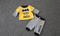Winter Baby Clothes Batman Boys Two Piece Sets Cotton Fleece...