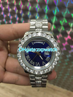 Big stone diamond watch silver and gold Stainless steel case...