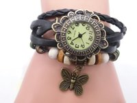 wholesale Mix 7Colors Cow Leather women Watches Leather butt...