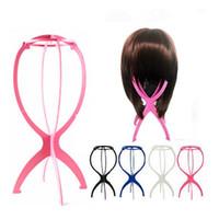 Soporte de peluca Rosy Black Black Y Blanco Color Portátil Portátil Plástico Plástico Pelucia Holder Herramienta de Pantalla Pelo 260pcs