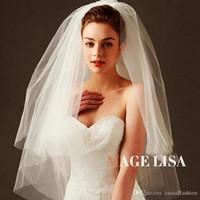 2017 Düğün Gelin El Yapımı Birden Çok Katmanlar Boncuklu Hilal Kenar Gelin Aksesuarları Peçe 1 M Uzun Beyaz Renk Tarak
