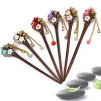 Good A++ Vintage hairpin hairpin headdress classic women step swing tassel chicken wing wood hairpin FZ012 mix order 20 pieces a lot