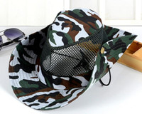 2017 New Camouflage Sun Cap Mesh Sunshade Hats Breathable Fi...
