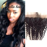 13x4 Brazilian Indian Peruvian Lace Frontal Closure Loose Deep Wave Ear toEar Dyeable Natural Color Human Hair Top