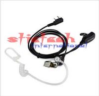 por DHL ou EMS 500pcs 2 PIN secreta acústica Auricular Tubo para walkie PTT MIC walkie duas vias Rádio CB Ham