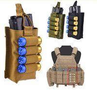 Tactical Molle Vest Accessory Magazine Pouch con 12 Gauge Airsoft Shotgun Shells Holder Bolsa de combate de asalto de caza
