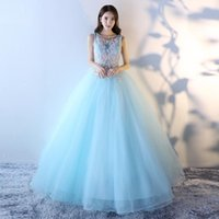 Vestido De Festa Cheap Blue Green Prom Party Dresses Long 20...
