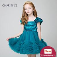 댄스 파티 무도회 드레스 어린이 디자인 옷 녹색 높은 품질 여선 소녀 드레스 소녀 어린 소녀 투투 중국 공급 업체