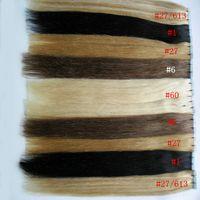 Extensões de fita de cabelo humano 100g 40 Pçs / lote Loira Brasileira Remy Remy Trama Fita Adesiva Extensões de Cabelo fita adesiva em extensões de cabelo humano