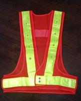 LED Gilet de sécurité réfléchissant Avertissement Vêtements en maille Travail sur la route