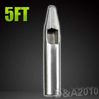 Wholesale-1x 5FT professionale grado superiore 304 del tatuaggio dell'acciaio inossidabile ugello piatto Suggerimento per la macchina presa Ink Supply alta qualità Nizza disegno