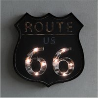 Route 66 Vintage Nostalgia Neon Sign Decorative painting LED...