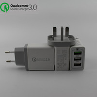 New Quick Charge Eu & US UK Plug QC 3. 0 30W 3 Ports USB Wall...