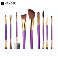 VANDER 9Pcs Professional Makeup Brushes Set Beauty Cosmetics...