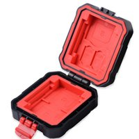 Black Red Anti-Shock Drop Waterproof IP67 Memory Card Storage Case Protective Box Holder for CF SD MSD XQD TF SD