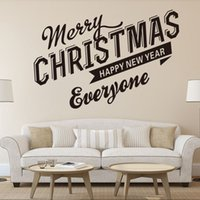 Merry Christmas Windows glass door Can remove wall stickers ...