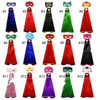 15 styles one- layer 70*70CM Super hero Capes and mask set Su...