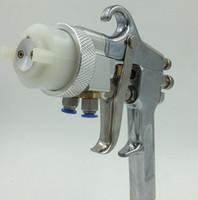Sprühpistole-Farbenpistole der Hochdruckluftgewehrspiegel-Chromsprühfarben-Doppeldüse für silbernen Spiegel und Chrom geben Verschiffen frei