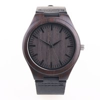 Wood Mens Womens Watch Wooden With Leather Band Japanese Miy...
