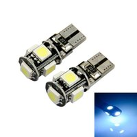 50PCS T10 5SMD 5050 led Canbus Error Free Car Lights W5W 194 5SMD LIGHT LAMPADINE ERRORE Bianco Blu Rosso Rosa Verde all'ingrosso