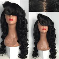 قمة الشعر 100٪ غلويليس الاصطناعية الجبهة الرباط الباروكة مع الدوي الباروكة شعر مقاوم للحرارة رخيصة أنثى لمة Perucas الباروكات للنساء السود
