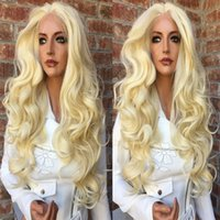Top Quality Synthetic Honey Blonde Body Wave Lace Front Wig ...
