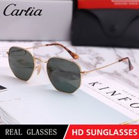 Brand Sunglasses 3548 Hexagonal Metal Sun Glasses irregular ...