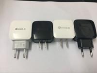 50 шт./лот оригинальный QC 3.0 USB зарядное устройство 3a быстрое зарядное устройство ЕС США стандарт USB зарядное устройство для Samsung Xiaomi Huawei