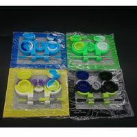 Silikon-Wax Dab Tool Kit mit 5,51 * 4,52 Zoll Matte Pad 3 ml / 5 ml / 7 ml / 10 ml / 22 ml Behälter 6 + 1 Gläser Titan Dabber Werkzeuge für Wachs tupfen Set