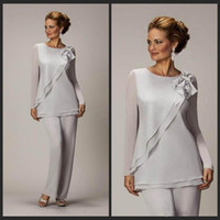 Modest Two Pieces Mother Of The Bride Pants Suit For Wedding...
