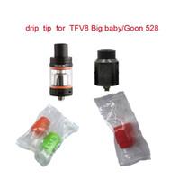 810 Silicone Dicas TFV Bocal Silicon Drip Tip pontas descartáveis grande furo gotejamento dicas de borracha de silicone Tester teste para Big Mouth Tanque