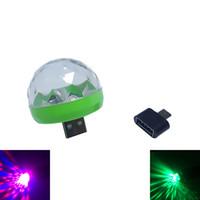 لمبة 3W DC 5V البسيطة RGB LED USB يلة ضوء المرحلة / ميكروفون / بقيادة مصباح عيد الميلاد ضوء العارض الديكور حزب LED